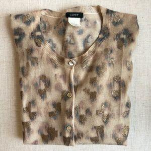 Gold Leopard Cardigan